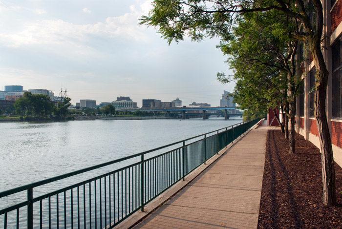 Downtown riverwalk next to RVC