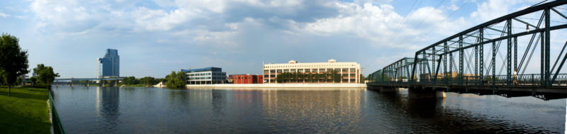 RVC Offices from the opposite river bank
